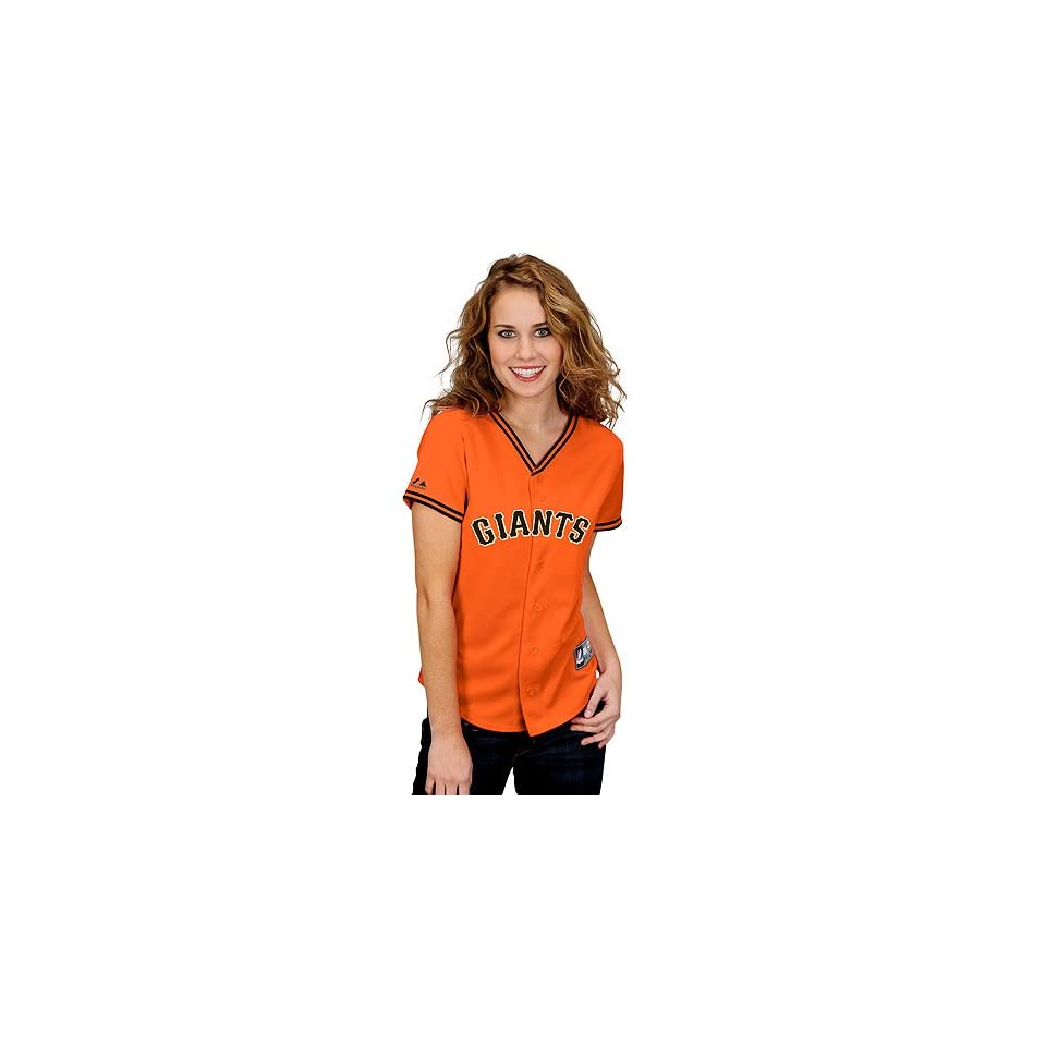 San Francisco Giants Womens Alternate Replica Jersey by Majestic Athletic