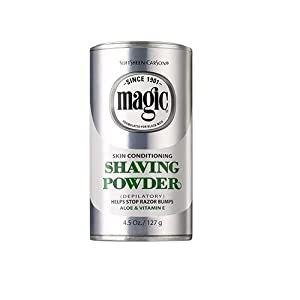 Magic Skin Conditioning Shaving Powder with Aloe & Vitamin E, 4.5 oz (127 g)