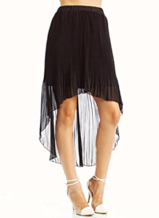 pleated high low skirt at s clothing store
