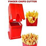 Glive's Potato French Fries Cutter Chipser Slicer (Red)