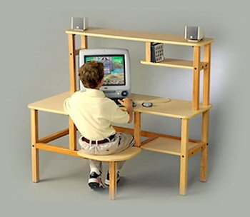 Buy Low Price Comfortable Grade School Computer Desk w/Hutch (B0001OI9Y4)