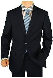 Salvatore Exte Men's Suit Two Button Side Vent Jacket Flat Front Pants