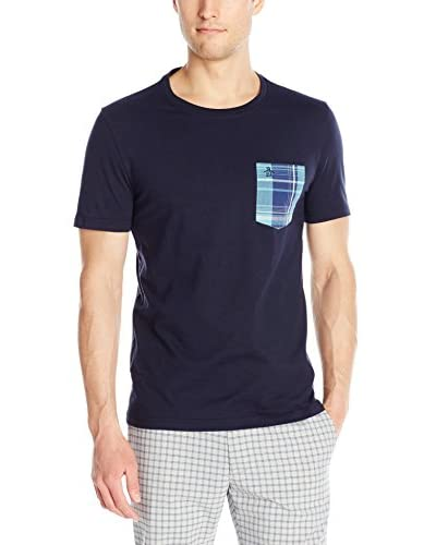 Original Penguin Men's Plaid Woven Pocket Tee