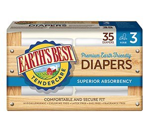 Chlorine Free Earth Friendly Disposable Diapers Size: Size 3 - 1