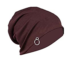 Gajraj Chocolate Brown Slouchy Beanie