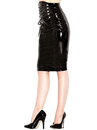 honour s pencil skirt hourglass figure design in pvc