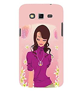 Peaceful Girly Design 3D Hard Polycarbonate Designer Back Case Cover for Samsung Galaxy Grand i9080 :: Samsung Galaxy Grand i9082
