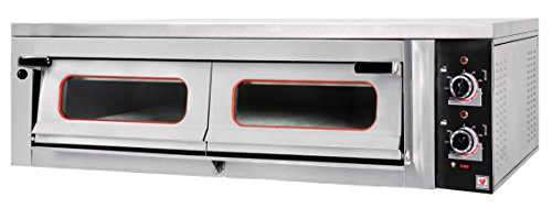 North Pro Gas FR110 Commercial Electric Pizza Oven with Fire Resistant Plate - 6 pizzas Ø360mm (230V-AC / 400V-3N-AC-50Hz) (Made in Greece)