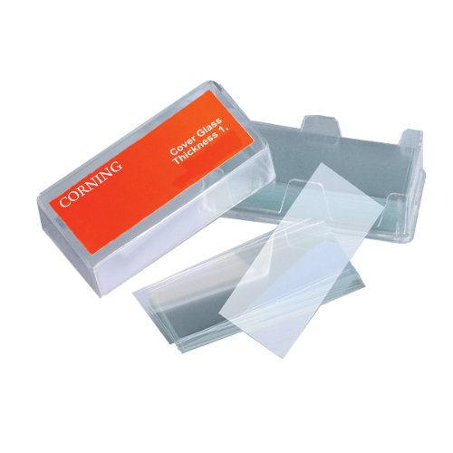Corning 2940-225 Zinc Titania Glass Rectangular Microscope Slide Cover, 24Mm Length, 50Mm Width, 0.16 - 0.19Mm Thick (Pack Of 58)