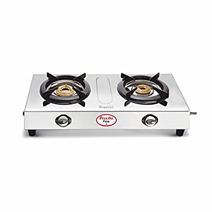 Preethi-Fino-Stainless-Steel-SSGS-002-Gas-Cooktop-(2-Burner)