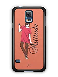 YuBingo Girl with an Smart Attitude Mobile Case Back Cover for Samsung Galaxy S5