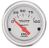 Auto Meter 4327 Ultra-Lite Short Sweep Electrical Oil Pressure Gauge