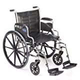 Invacare LightWeight Tracer EX2 Wheelchair 18″ with Swingaway Footrest-Blue (Folding, Assembled)