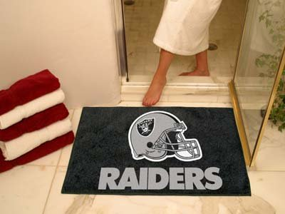 NFL Oakland Raiders Chromo Jet Printed Rectangular Area Rug Floor Mat 45