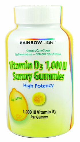 Rainbow Light Vitamin D3, 1000 Iu Sunny Gummy, 100-Count