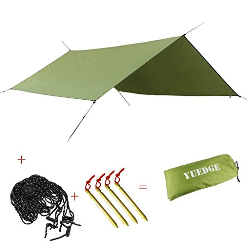 YUEDGE-Portable-Lightweight-Water-resistant-Rain-Tarp-Tent-Tarp-Shelter