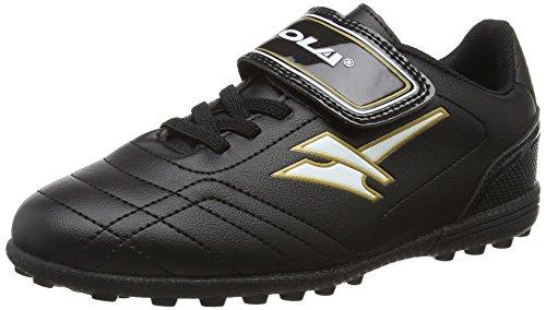 Gola Magnaz VX, Scarpe da Calcio Bambino, Nero (Black/Gold), 25|#BoyS