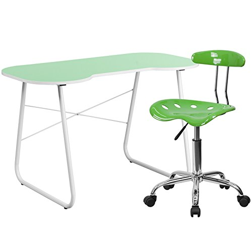 Flash Furniture Computer Desk And Tractor Chair, Green