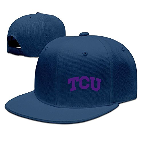 NUBIA Texas Christian University TCU Custom Sun Protection Cap Snapback Flat Bill Hat Navy