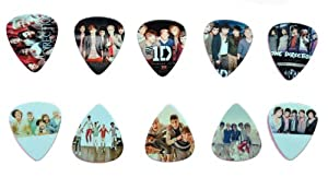Lots of 10 Pieces 1 D One Direction Printing Medium Guitar Picks Plectrum by Guitar King