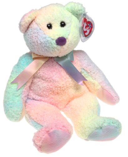 1 X Ty Beanie Buddy - Groovy the Bear Pastel Colors [Toy]