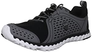 K-Swiss Men's Blade Foot Run Black/Charcoal/White Lace Up 02787-025-M 10.5 UK