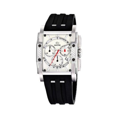 Jaguar 645/1 - Reloj de caballero de cuarzo, correa de caucho color negro