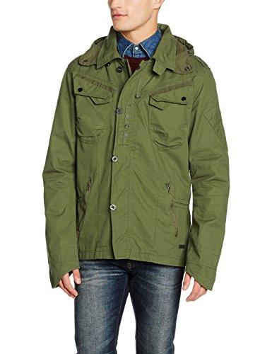 Brandit Byron Outdoorjacket, Hood, Giacca Uomo, Grün (Olive 1), X-Large