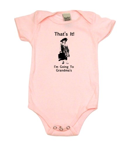 That'S It! I'M Going To Grandma'S On Infant Onesie, 12-18 Mo, Light Pink front-1022357