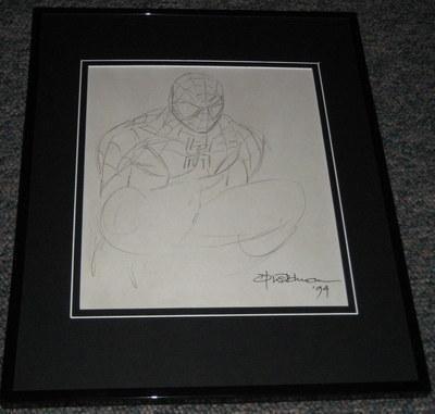 Klaus Jason 1995 Spiderman Framed 7X10 Sketch Official Reproduction