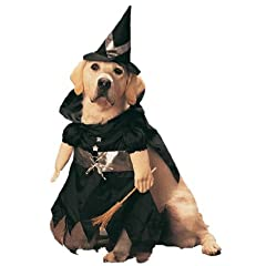 Pet Witch Dog Halloween Costume For Medium Dogs