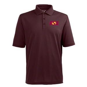 Arizona State Pique Xtra Lite Polo Shirt (Team Color) by Antigua