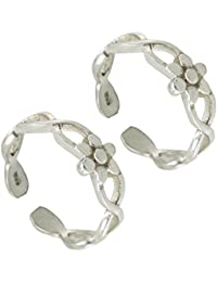 Silver ICE Antique 925 Sterling Silver Toe Rings For Women