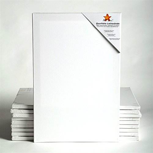 10-art-star-tele-su-telaio-30-x-60-cm-malfertig-100-cotone-ideale-per-volta-di-principianti