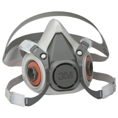 3M Half Facepiece Reusable Respirator 6100/07024(AAD), Respiratory Protection, Small (Pack of 1) (Air Purifying Mask compare prices)