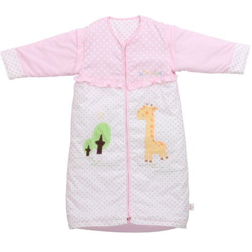 """Dele Winter Cotton Infant Sleeping Bag Stereoscopic Sleeping Sleeves Detachable Baby Essential Supplies """"Road To Growth"""" (L, Pink) front-902092"""