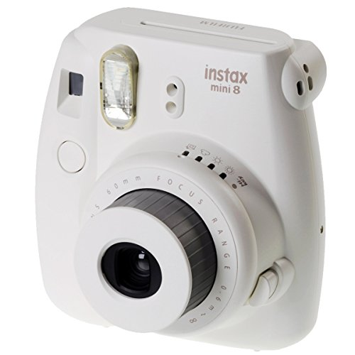 FujiFilm Instax Mini 8 with Strap and Batteries (White)