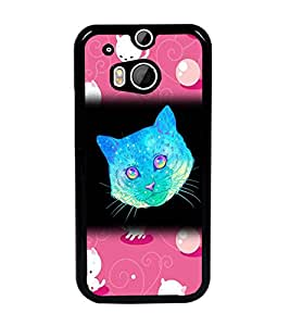 PrintDhaba Kitty D-2861 Back Case Cover for HTC ONE M8 (Multi-Coloured)