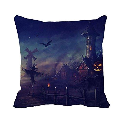 Decorative Pillow Case Beautiful Halloween Scenery Copricuscino 45,7x 45,7cm