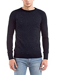 Shuffle Men's Cotton Sweater (8907423023307_2021522201_Large_Navy)