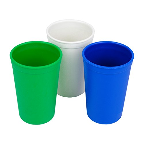 Re-Play Made in the USA 3pk Drinking Cups for Baby and Toddler - Kelly Green, White, Navy Blue (Nautical) (Kelly Cup compare prices)