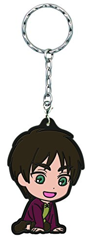 Banpresto Attack on Titan Eren Yeager Kyun-Chara Illustrations Rubber Key Chain