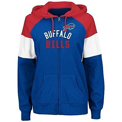 Buffalo Bills Women's Hot Route Blue Zip Up Hooded Sweatshirt