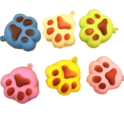 Squishy Colorful Kawaii Soft Cartoon Chain Bread Puppy Footprint Cellphone Charm Straps (Tmnt Fish Face compare prices)
