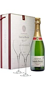 Laurent-Perrier Champagne with 2 Glasses NV 75cl (1 bottle)