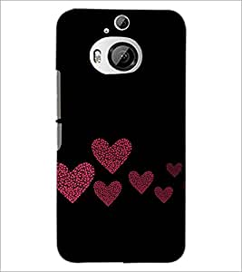 PrintDhaba Hearts D-2422 Back Case Cover for HTC ONE M9 PLUS (Multi-Coloured)