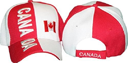 Embroidered Maple Leaf Canada Canadian Flag Baseball Ball Cap Hat (Canada Flag Ball compare prices)