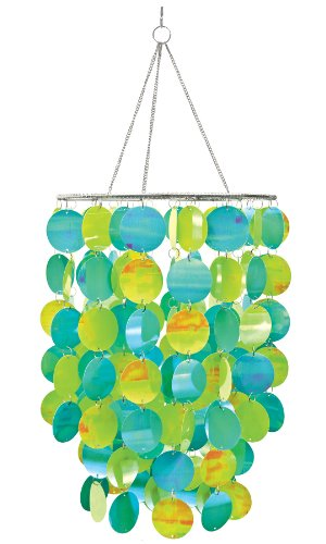 WallPops WPC0330 10.5-Inch Diameter Pearl Blue Green Chandelier