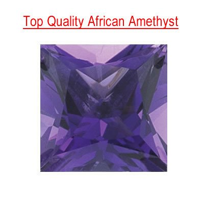 0.90 Cts of 6 mm AAA Princess Amethyst (1 pcs)