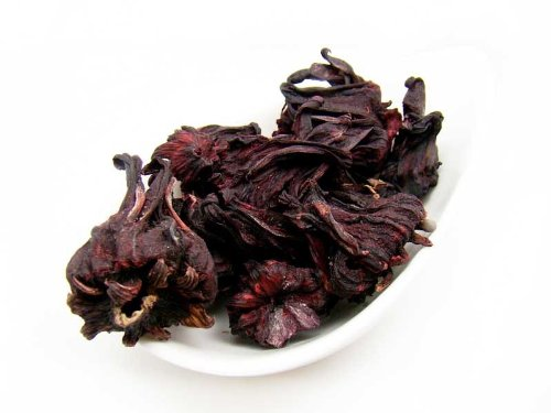 Hibiscus Flower Tea - 1 Oz (28G) - Rich In Antioxidants, Beautiful Burgandy Color With Aromatic Flavour - By Nature Tea